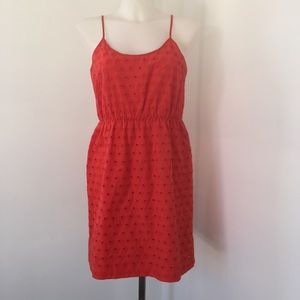 Madewell eyelet mini dress size 4.